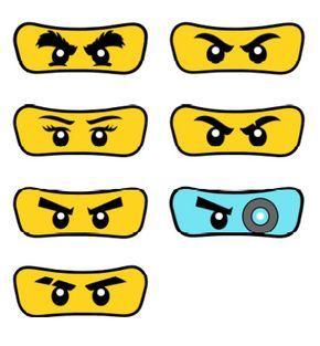pack of 7 eyes lego ninjagopartyummy on etsy | ninja