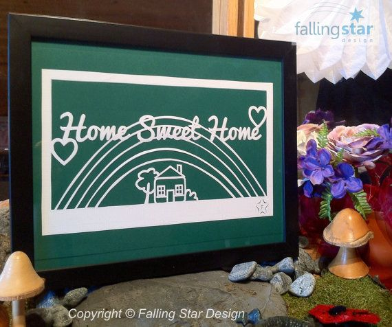 Home Sweet Home Rainbow Papercutting Template by FallingStarCuts - rainbow template