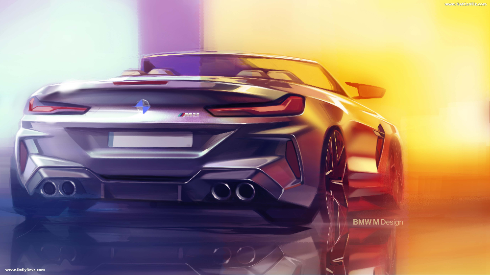 2020 Bmw M8 Competition Convertible Dailyrevs Com Bmw Automotive Design Design