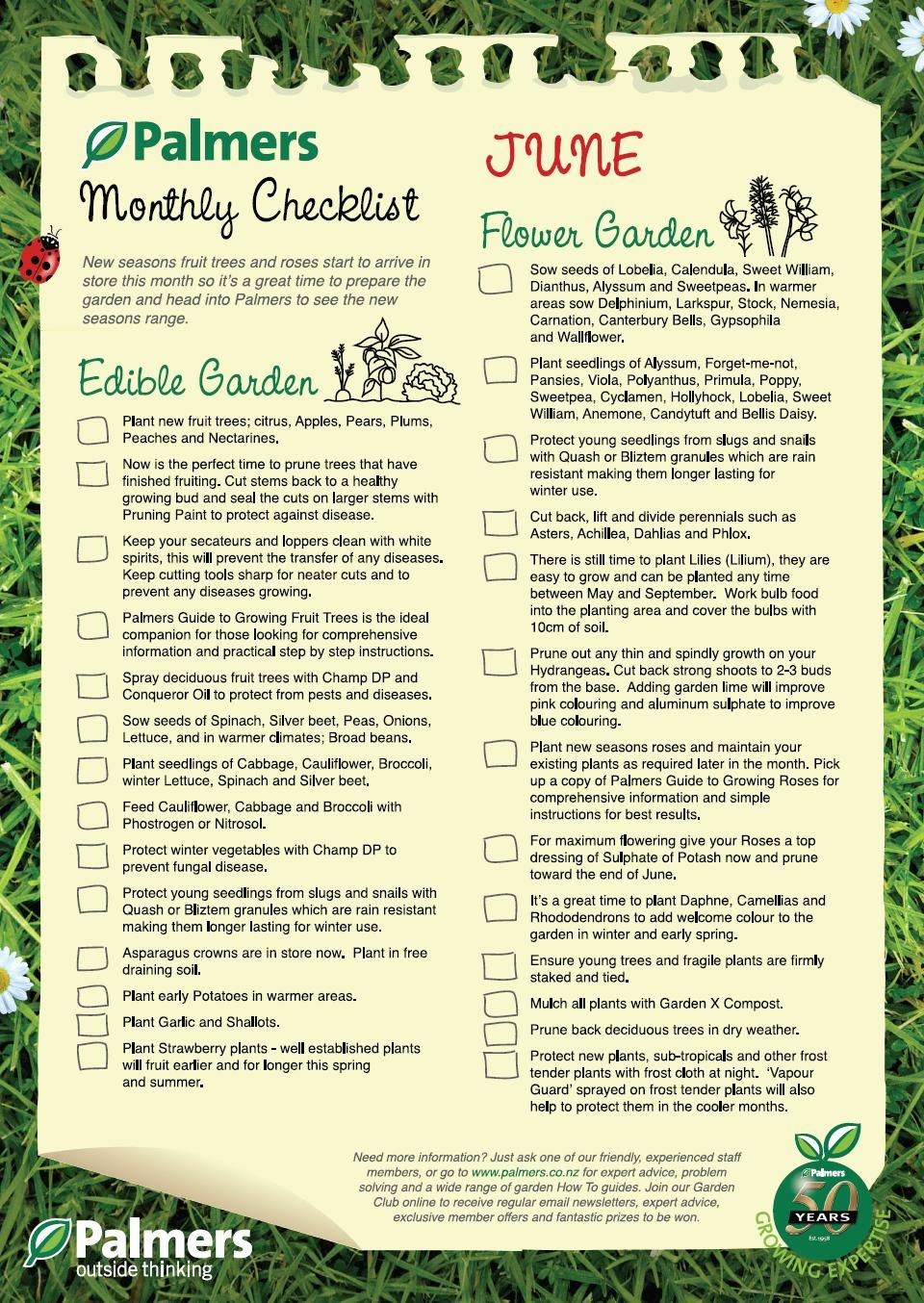 monthly checklist for your garden june adjust for the states