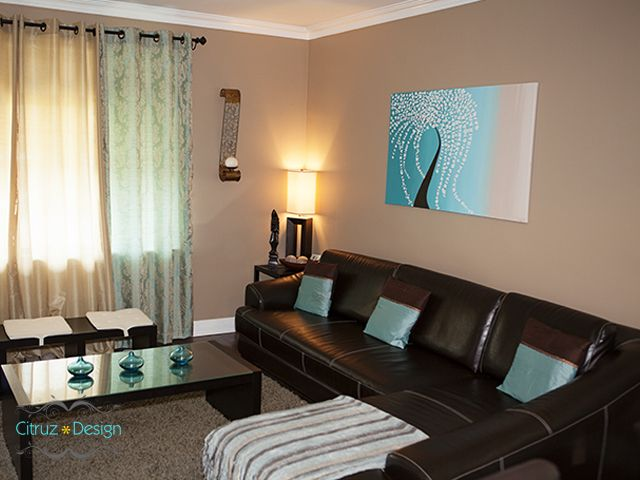 Teal Living Rooms Brown Room Decor, Brown And Turquoise Living Room Decorating Ideas