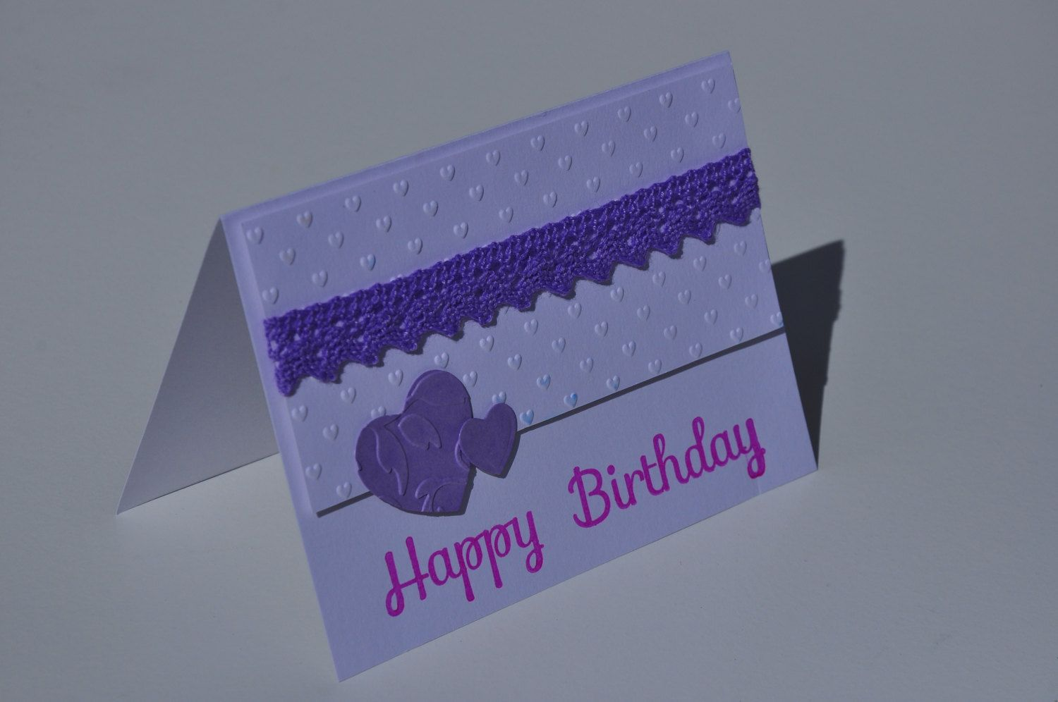 Happy Birthday hearts card by KraftAndSetApart on Etsy