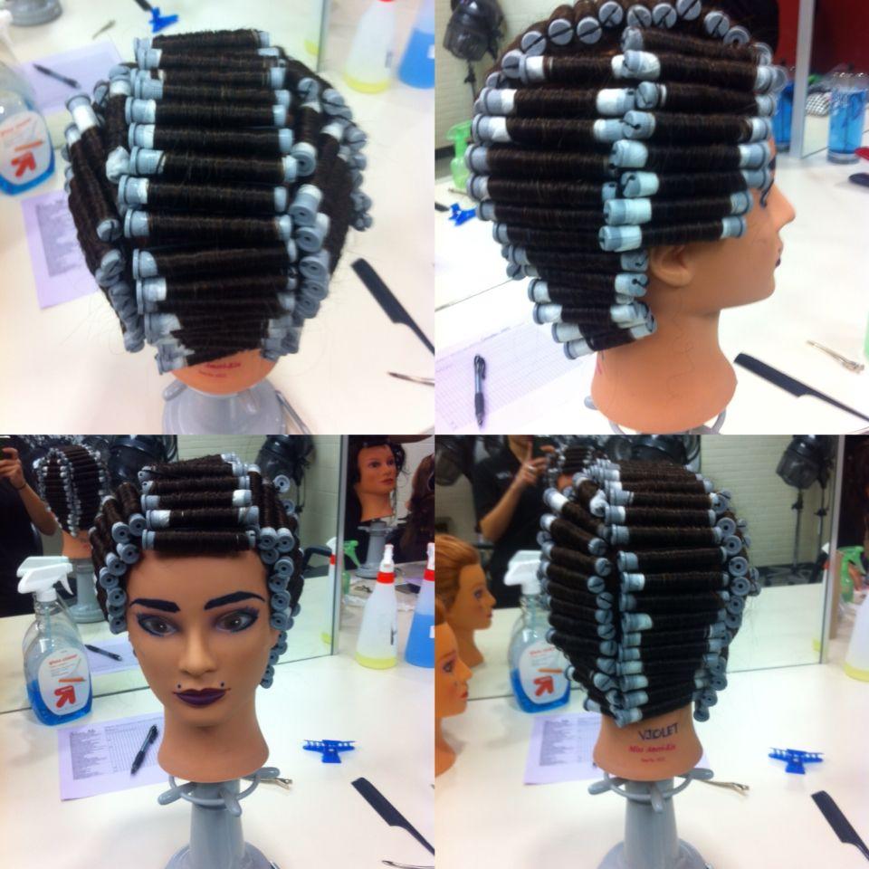 9 Section Perm Wrap Cosmetology Medium Hair Styles