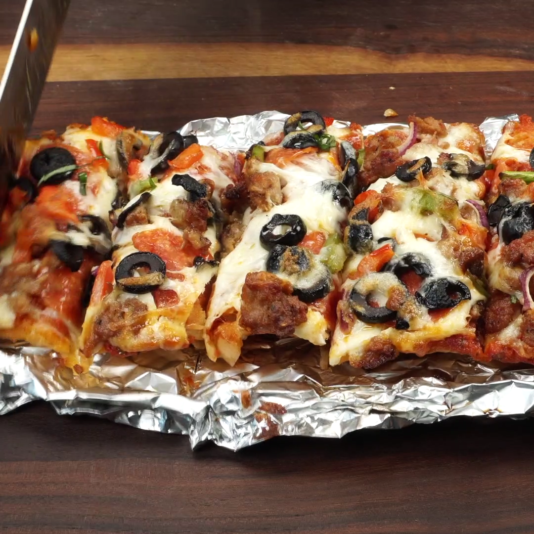 grilled french bread pizza  recipe  butter your biscuit