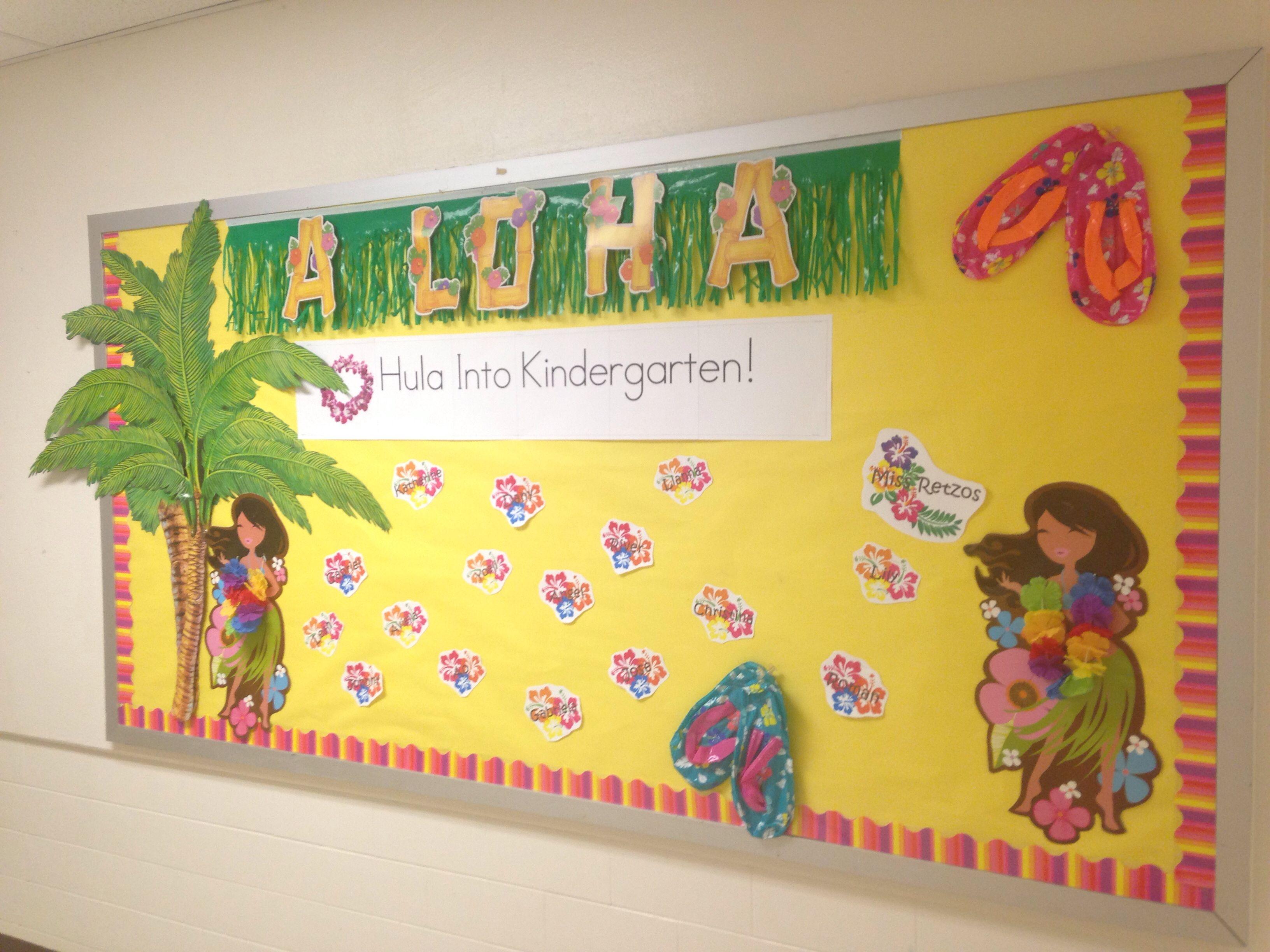 Hawaiian Themed Welcome Back To School Board