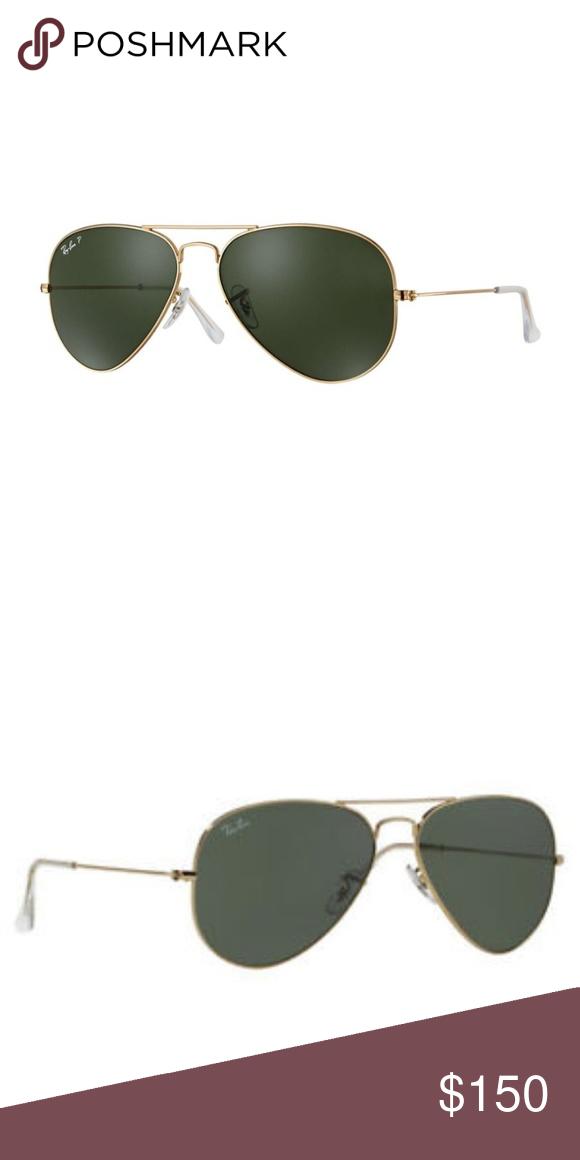 f9b30b628b Ray-Ban Classic Gold Green Aviator Sunglasses NEW Originally designed for  the U.S. military fighter