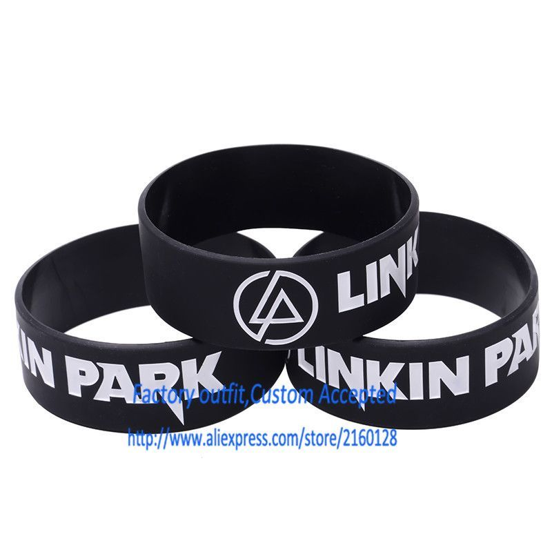LINKIN PARK Silicone bracelet 1 inch Silicone wrist band BRACELET Rock gift Custom Accepted