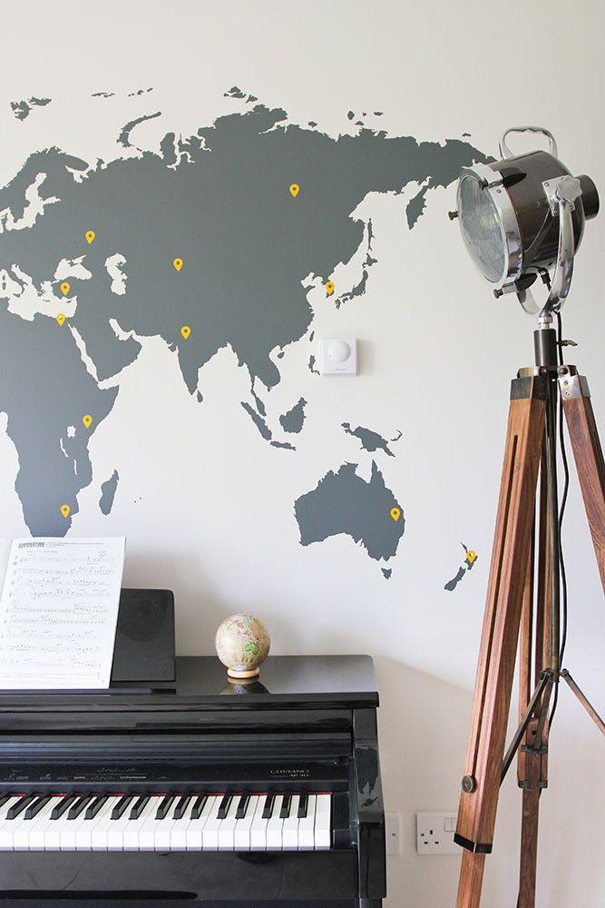 World Map Vinyl Wall Sticker | Decor on world map comforter set, world map dining room, world map wall office, world map wall decal, world map vintage, world map flooring, world map games, world map wall cling, world map lanterns, world map bookends, world map rings, world map mirrors, world map pillows, world map apparel, world map vases, world map wall paint, world map stationery, world map floral, world map wall mural, world map decorative box,