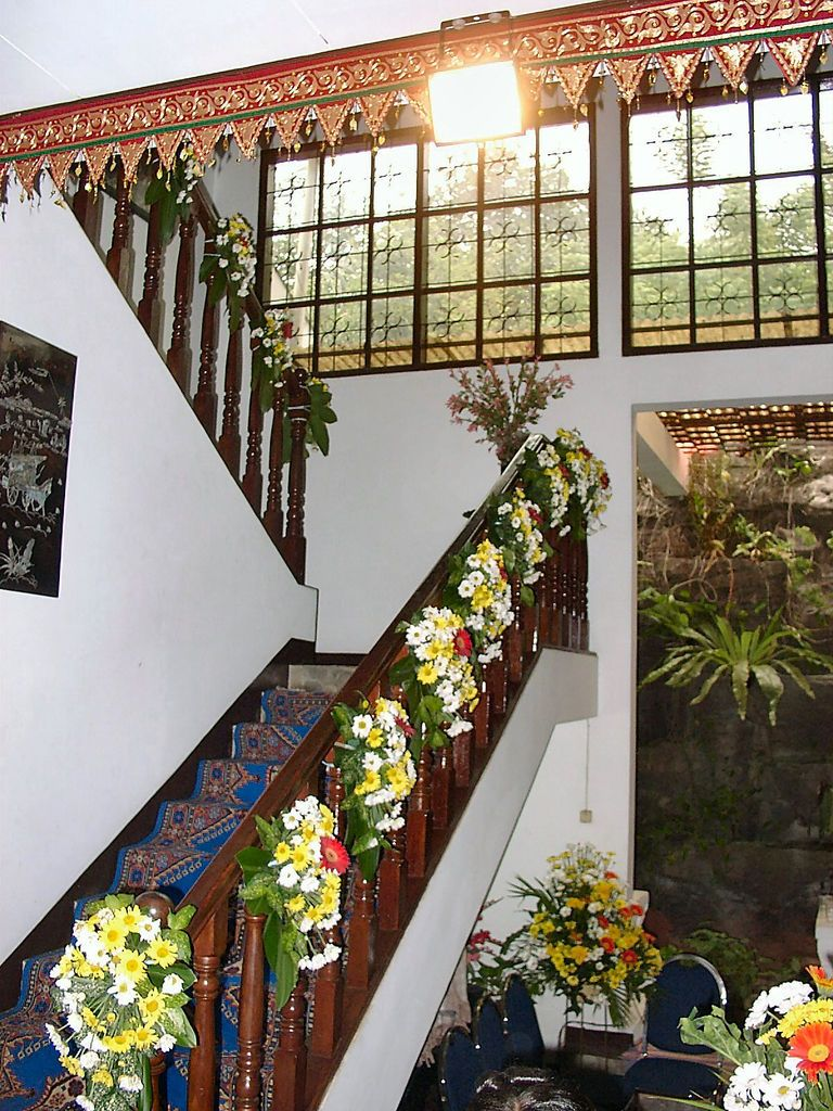 At Home Wedding Decoration Ideas Rustic Railing At Http://awoodrailing.com  Indian