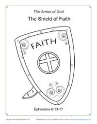 Shield of Faith Coloring Page | Armor of God for Kids | Church ...