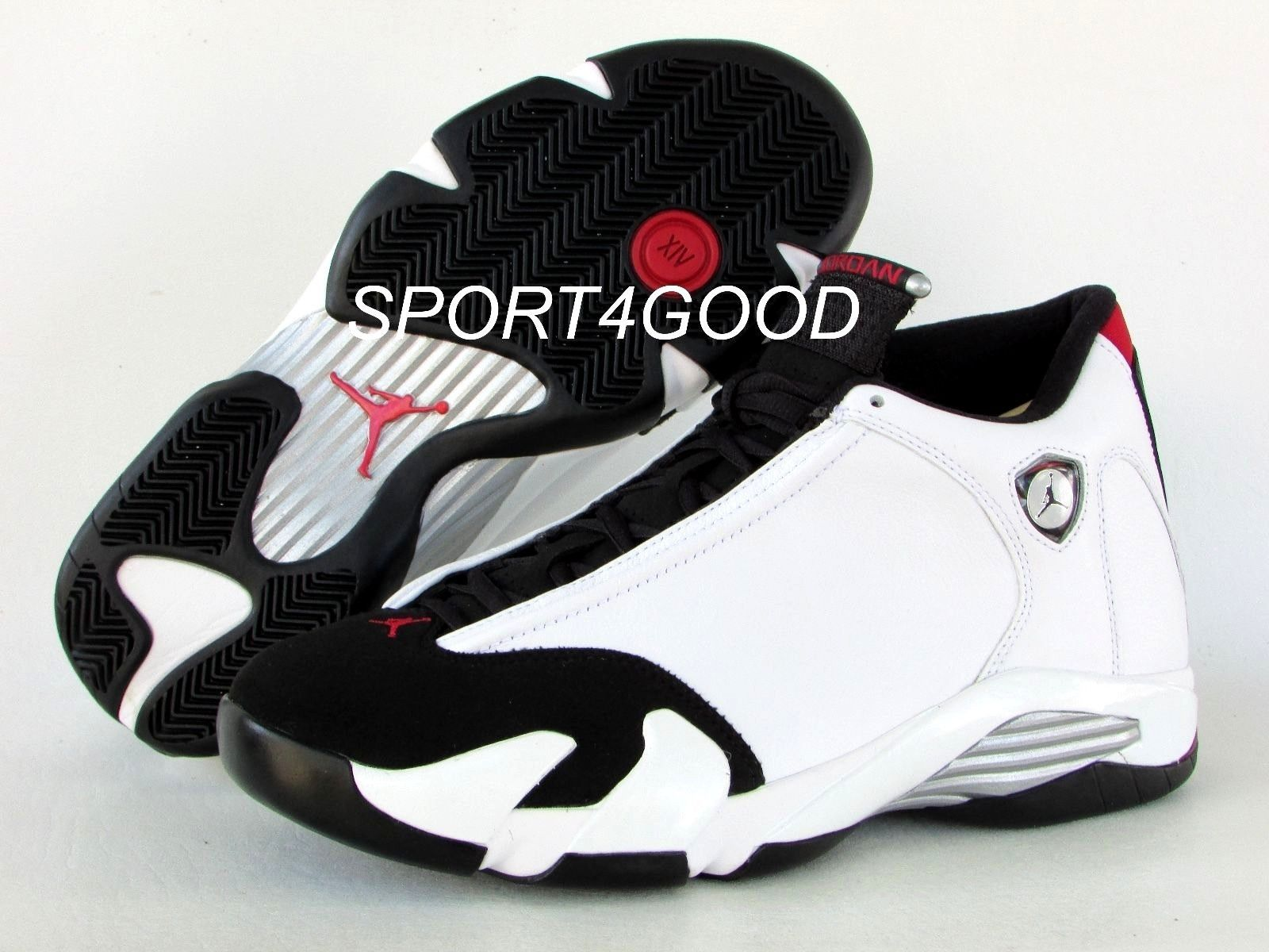 5a12374b6855af Nike Air Jordan 14 XIV Retro White Black Toe Men SZ 8.5  487471-102 ...