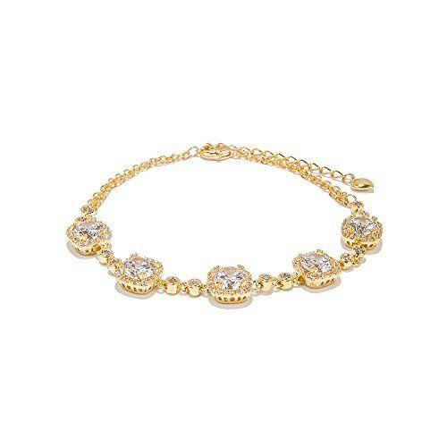 TrinketSea Women Chain Link Bracelets Jewelry 18k Gold Pl…