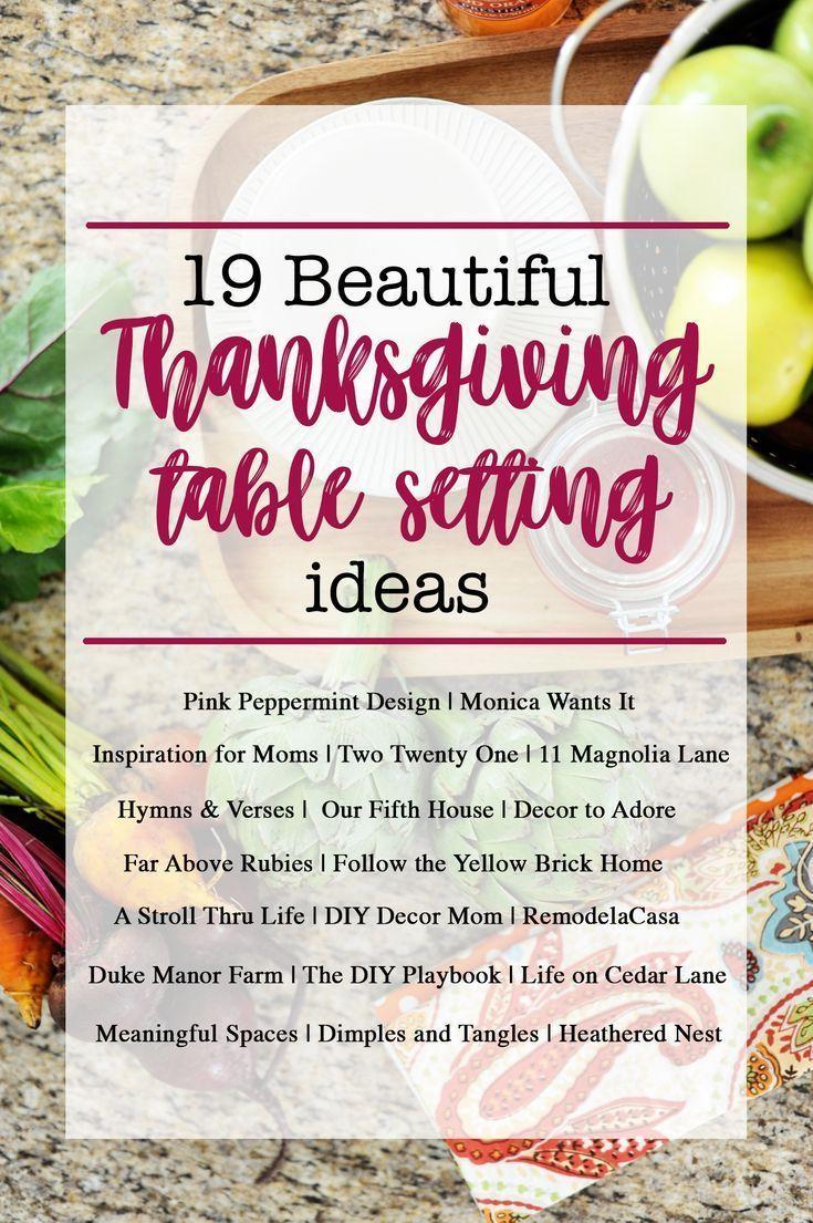 19 Beautiful Thanksgiving Table Setting Ideas #thanksgivingtablesettingideas 19 Beautiful Thanksgiving Table Setting Ideas #thanksgivingtablesettingideas