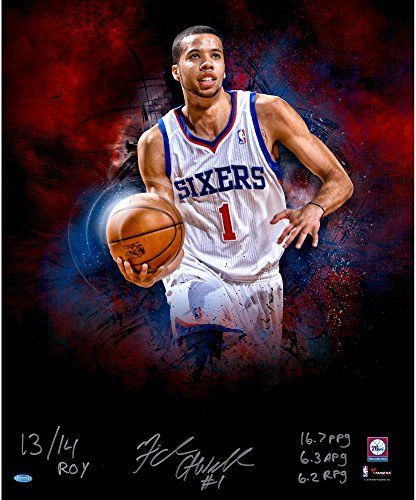 Michael Carter Williams Philadelphia 76ers Autographed 20'' x 24'' In Focus Photograph with Multiple Inscriptions Limited Edition 2-23 of 24 - Fanatics Authentic Certified *** See this great product.