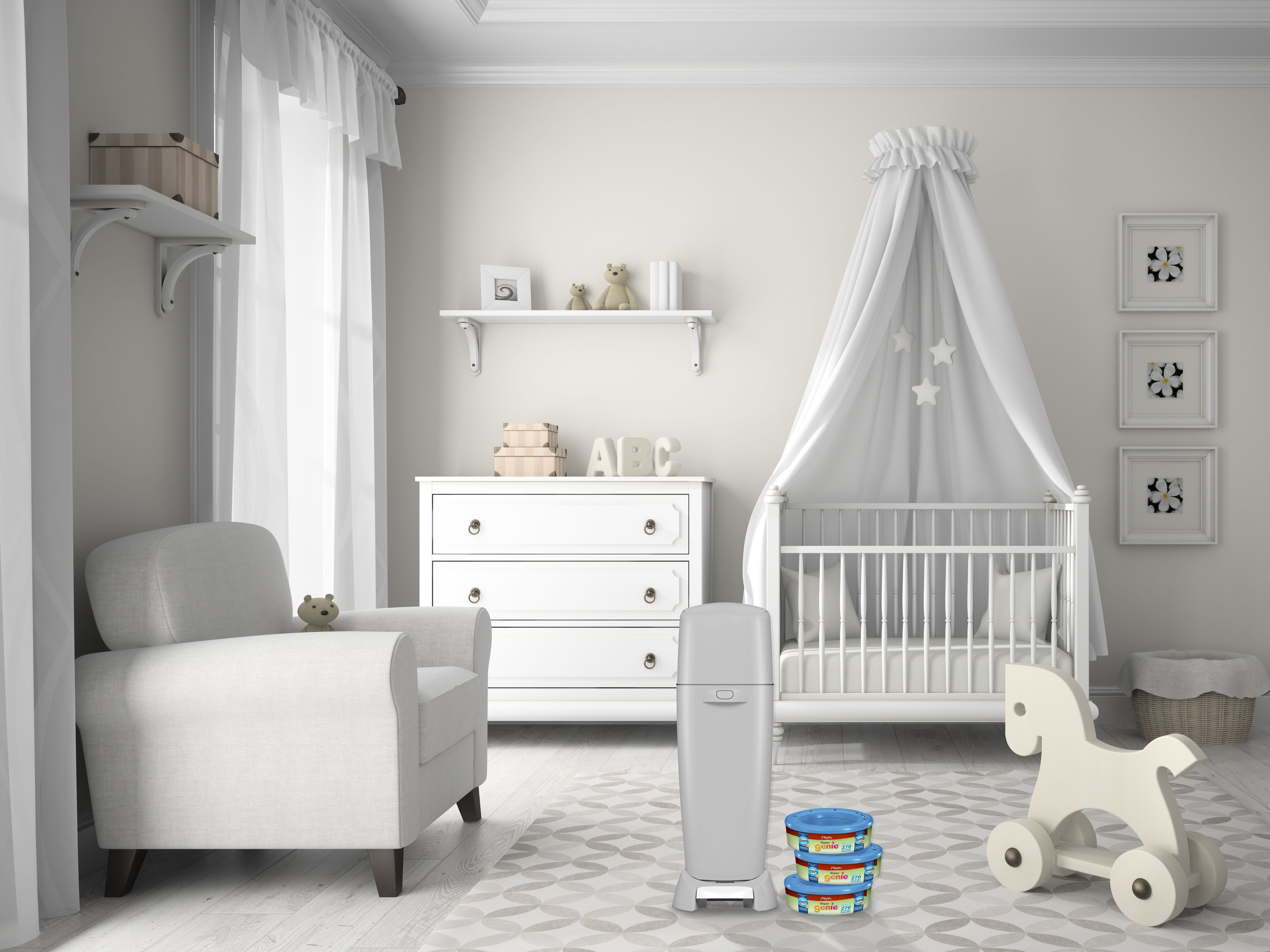 Grey nurseries are an unexpected twist to traditional