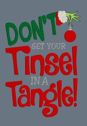 Don't Get Your Tinsel 5x7