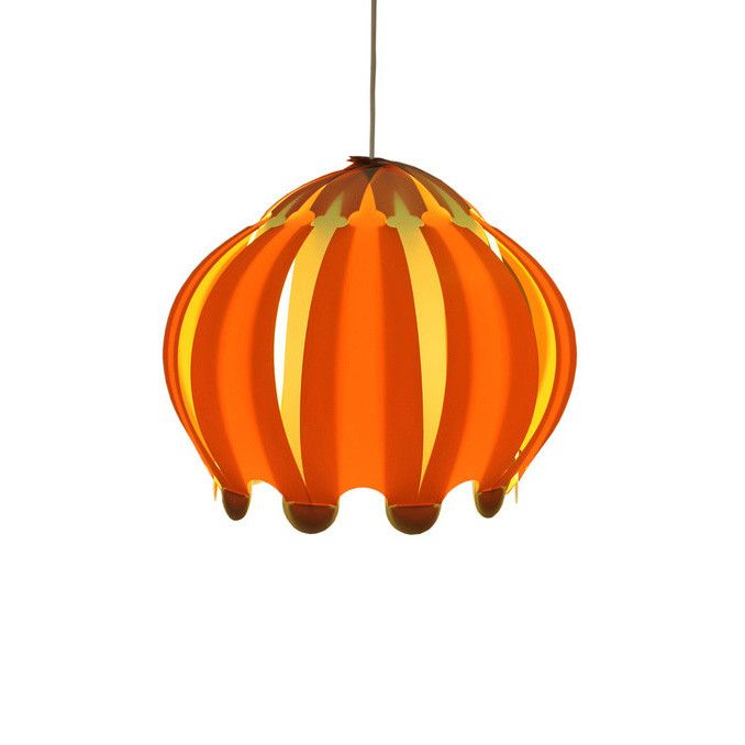 Allium Orange Lamp Shade By Klickity Funky Lamp Shades Funky Lamp Shades Orange Lamps Orange Lampshade