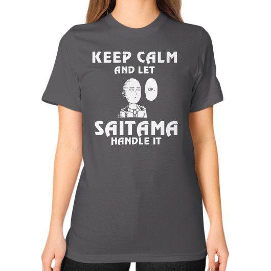 Saitama handle it Unisex T-Shirt (on woman)