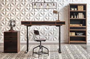 Two Tone Height Adjustable Desk | National Business Furniture