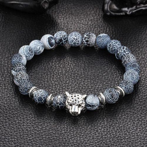 Silver Leopard Bead Bracelet Bracelets Pinterest