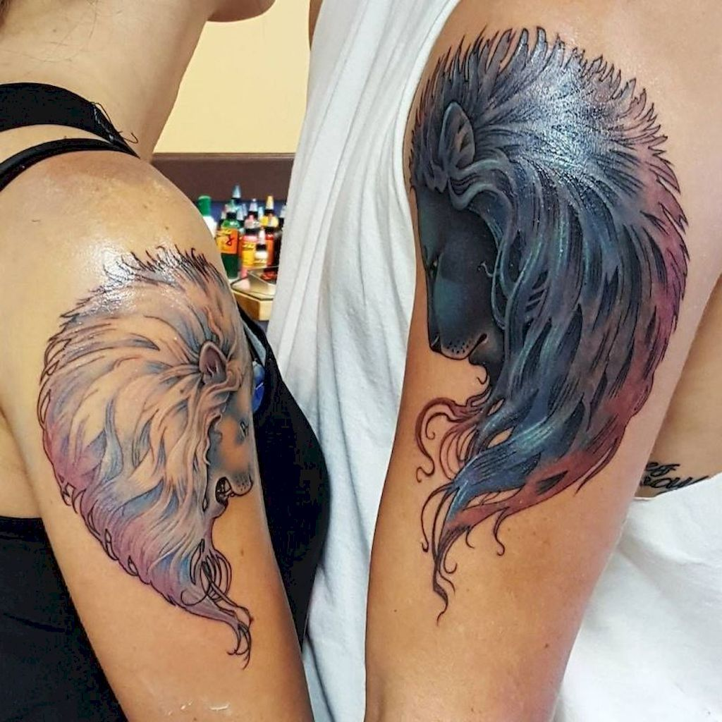 5644ab358 Best 59 Creative Couple Tattoos that Celebrate Love's Eternal Bond  https://bellestilo.