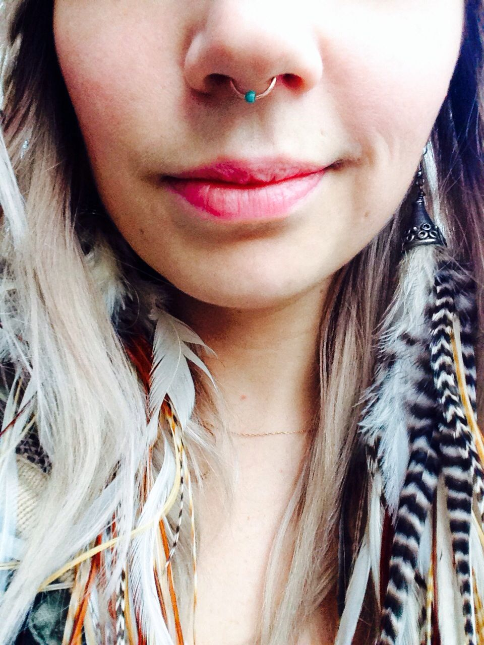 Septum piercing vs nose piercing  My nose ring is in my nostril not septum but Iud love to have this