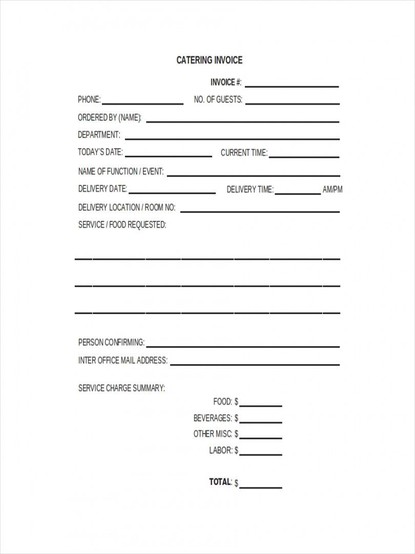 Browse Our Example Of Catering Company Receipt Template Contract Template Receipt Template Business Template