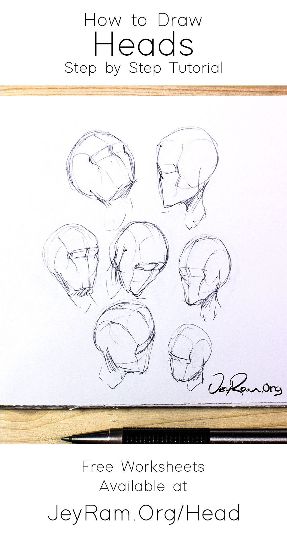 How To Draw The Head From Any Angle Step By Step Tutorial For Beginners Drawing The Human Head Drawings Drawing Tutorial