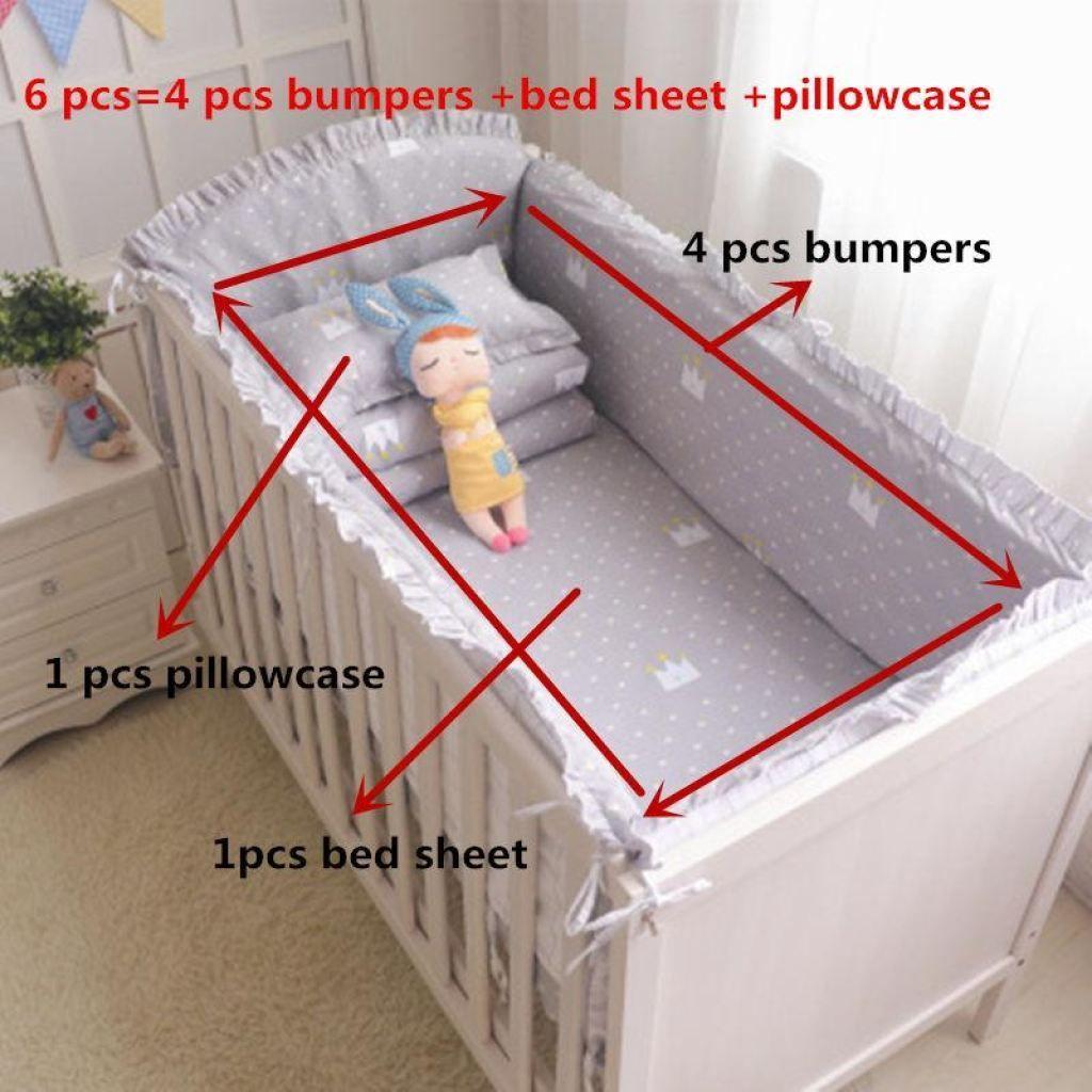 ff134d4be06b 6pcs set Blue Universe Design Crib Bedding Set Cotton Toddler Baby ...