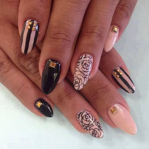 I Just Like The Ring Finger Nail Design Nails Pinterest