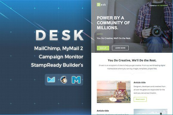 Desk  Responsive Email Template By Nutzumi On Creativemarket