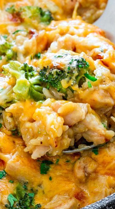 One Pot Cheesy Chicken Broccoli  Rice Casserole  Rice In -9702