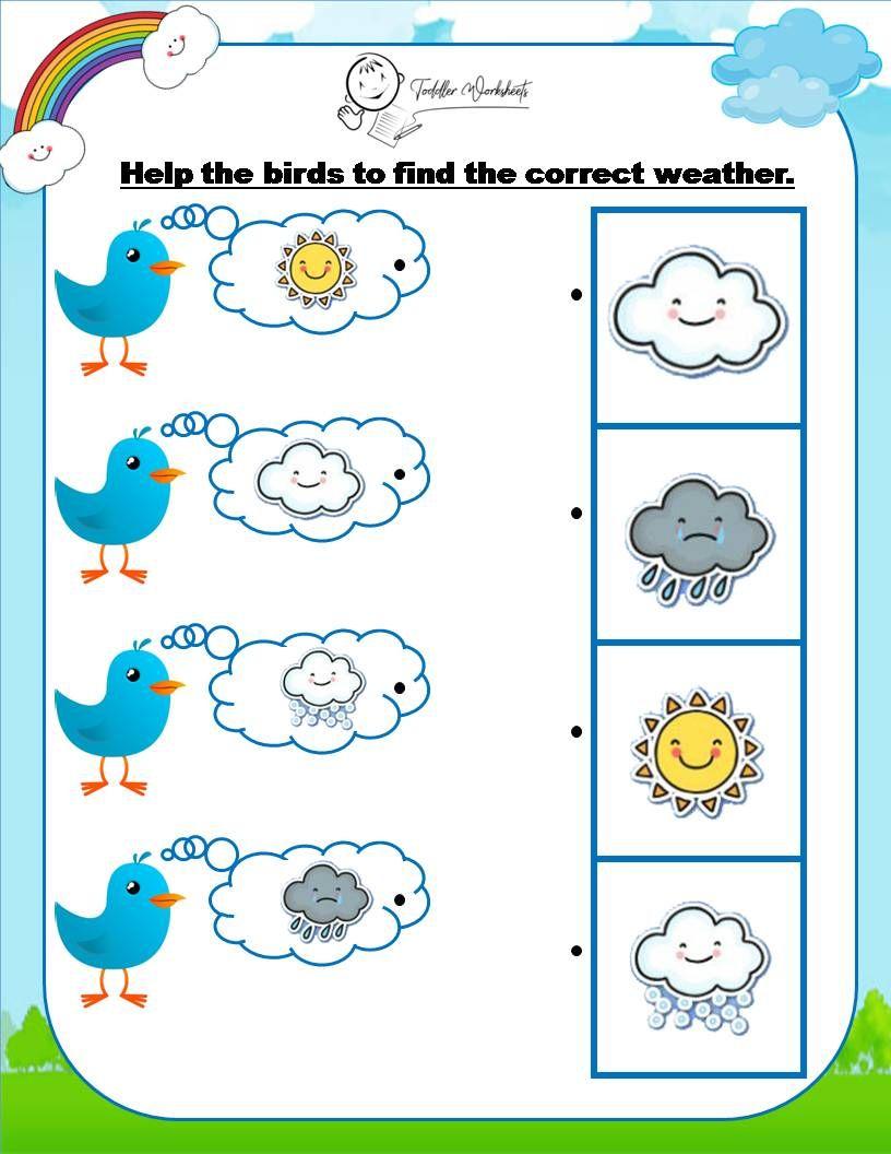 Preschool Weather Worksheet Weather Worksheets Preschool Weather Theme