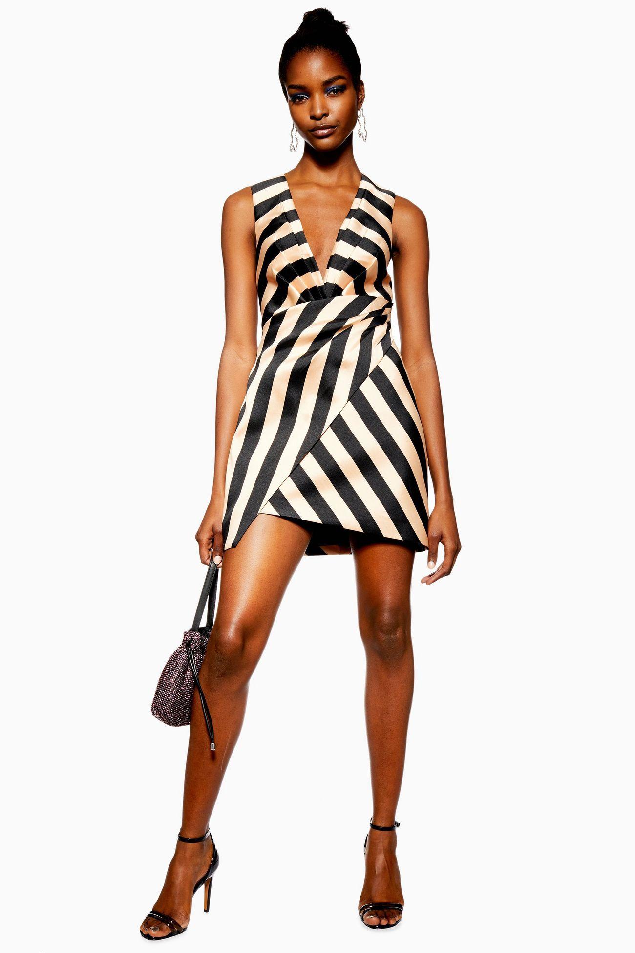 80f3cfccaf6634 Stripe Wrap Structured Dress in 2019   Stripes   Dresses, Structured ...