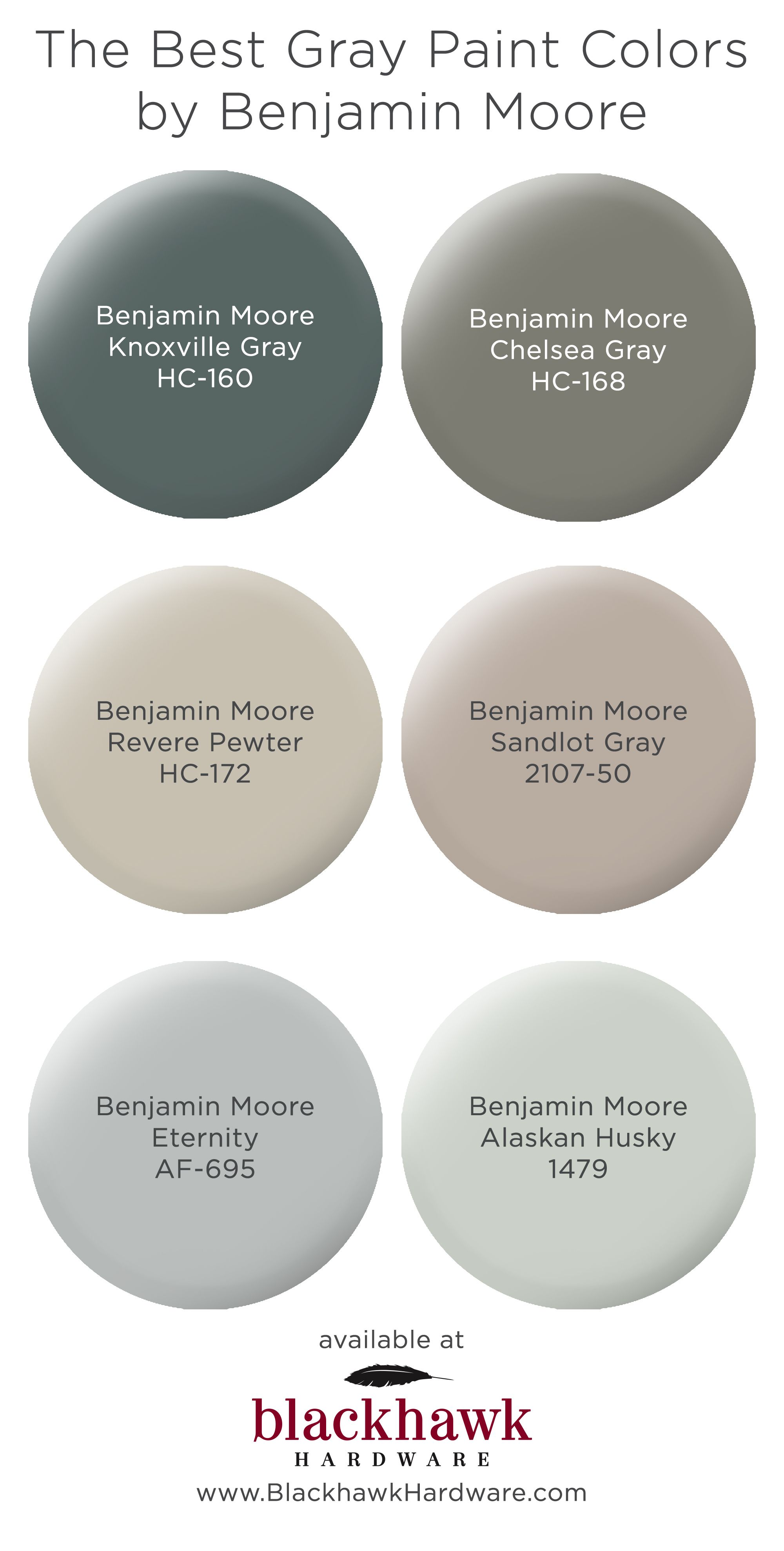 The Best Gray Paint Shades by Benjamin Moore