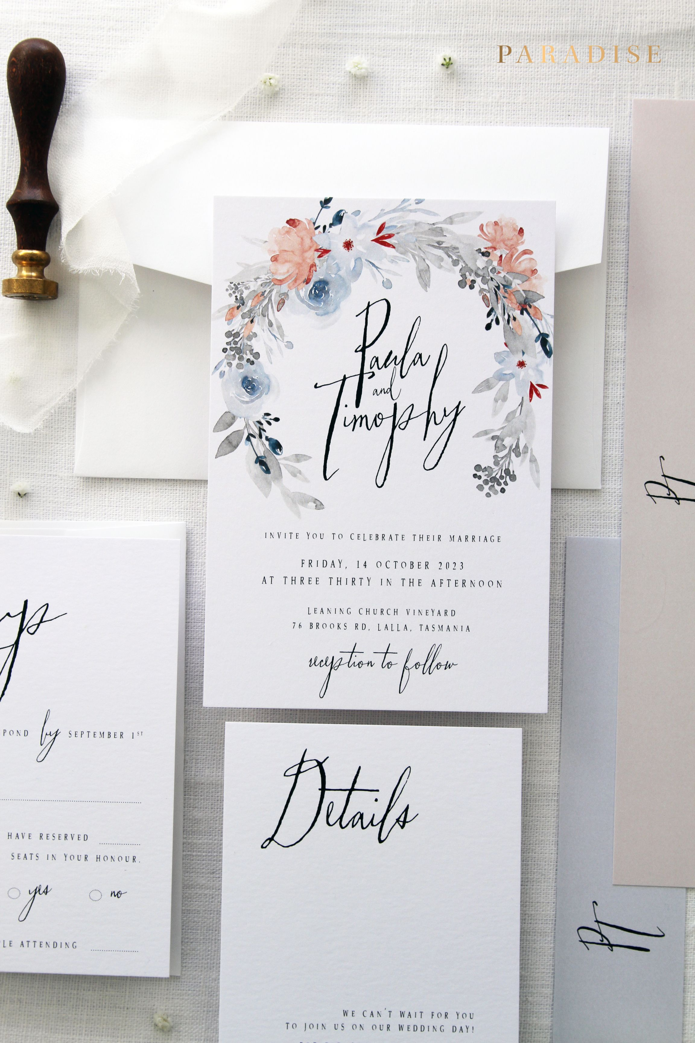 Janessa Wedding Invitation Sets, Printable Wedding Invitations or ...