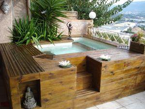 Piscine et bois piscinas pinterest piscinas mini for Piscine hors sol 10m2