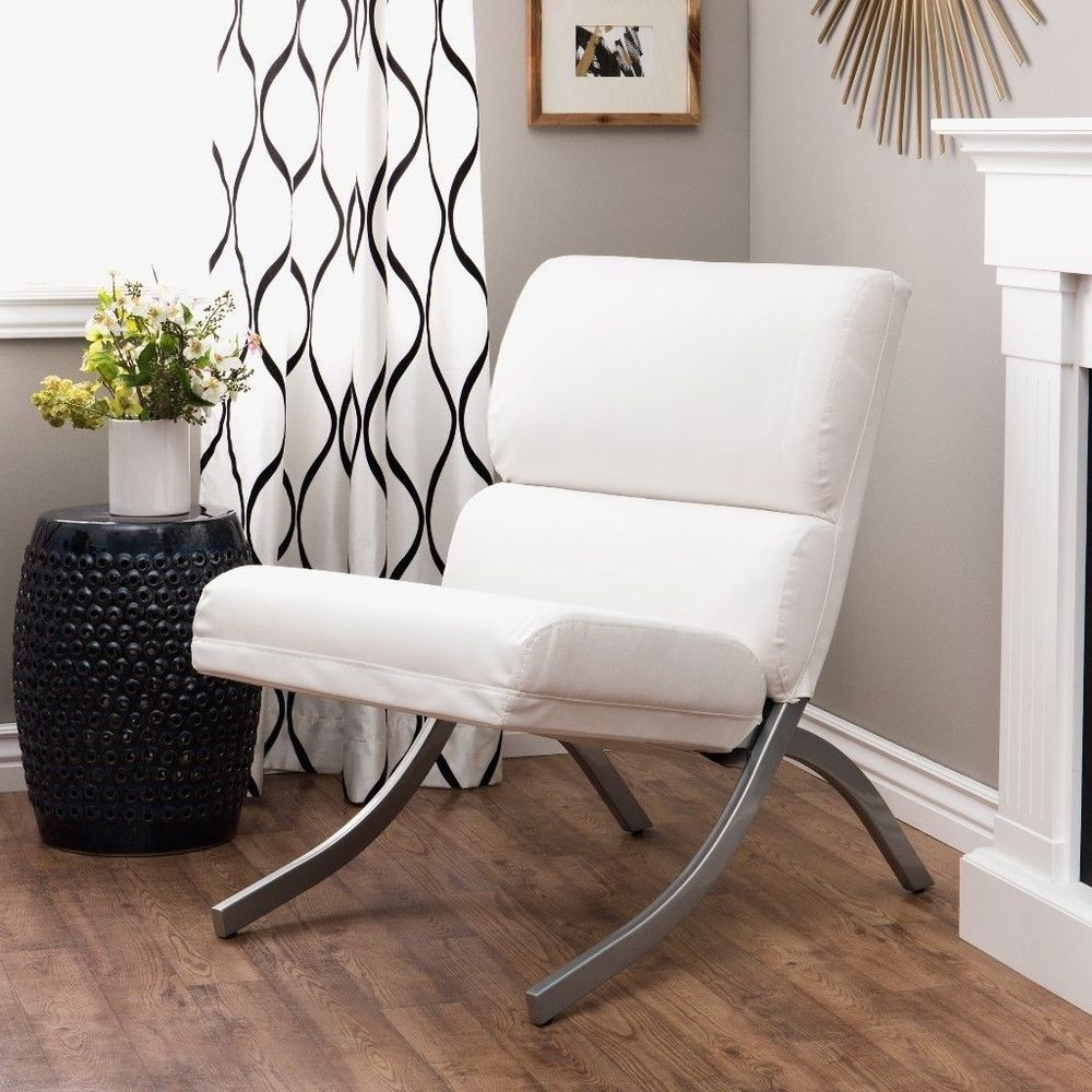 Groovy Rialto Bonded Leather White Chair Modern Living Room Accent Alphanode Cool Chair Designs And Ideas Alphanodeonline