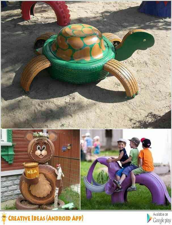 Pin by veronica yakovlev on diy pinterest tired tire art and how to recycle animal craft from tires turtle solutioingenieria