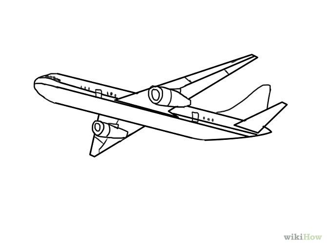 outline drawings airplanes