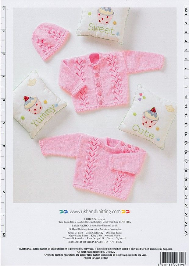 Cardigan, Sweater and Hat in DK (UKHKA119) | Deramores