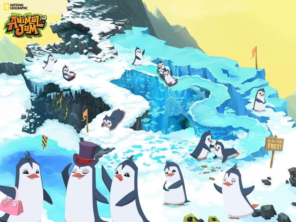 Animal Jam Graphic Central Backgrounds Animal Jam Penguin Wallpaper Animal Jam Codes