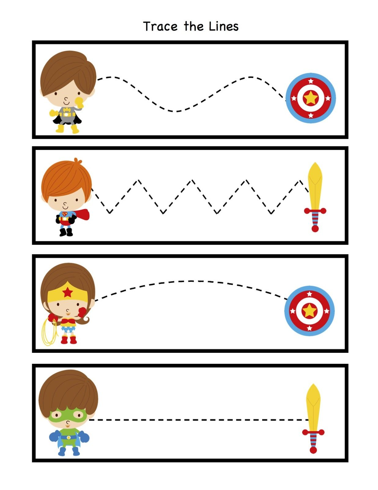 Preschool Printables Little Super Heroes To The Rescue