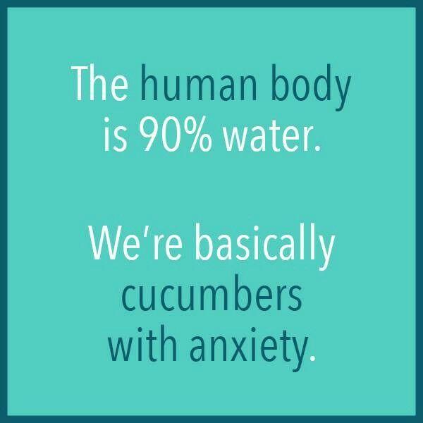 Anxious cucumbers.