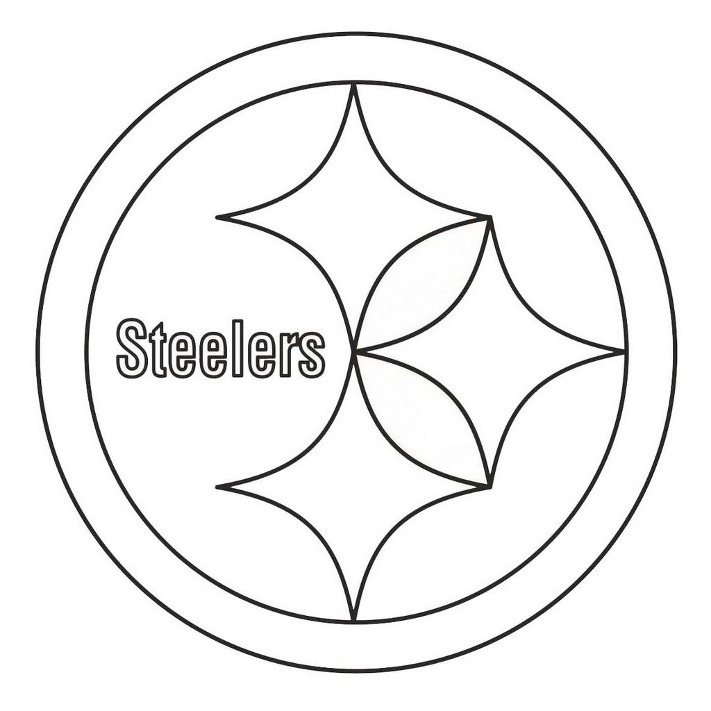 Pittsburgh Steelers From Nfl Teams Coloring Logo Pages Sports Coloring Pages Football Coloring Pages Pittsburgh Steelers Football