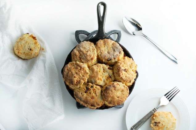 Cheddar Biscuit Topped Chili