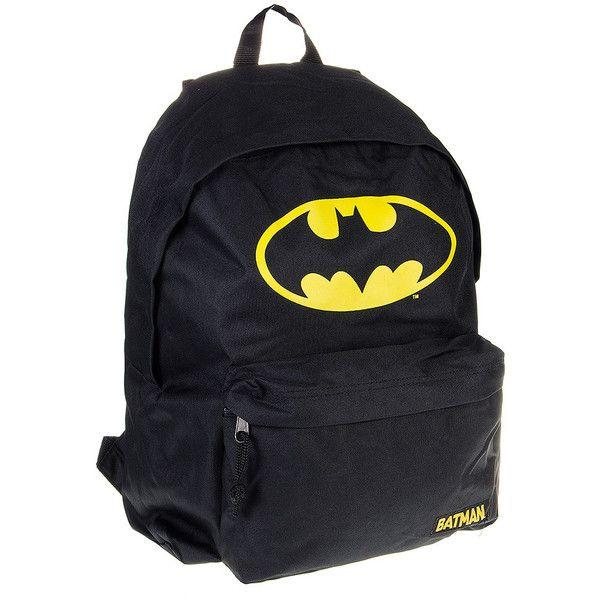 Batman Logo Backpack (Black) (€36) ❤ liked on Polyvore featuring bags, backpacks, backpack, accessories, batman, backpack bags, day pack backpack, knapsack bag, rucksack bag and batman logo backpack