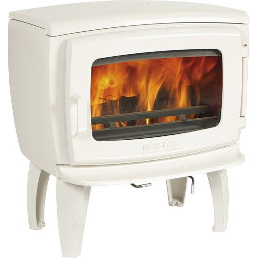 Poele A Bois Norflam By Dovre Prelude Emaille Blanc 9 Kw Poele A Bois Bois Bois Leroy Merlin