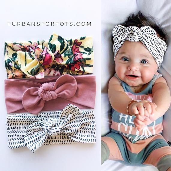 Okay, these are my favs - Set : Baby top knot Headbands ( Buttercup Floral, Dusty Rose & Ink Blots )