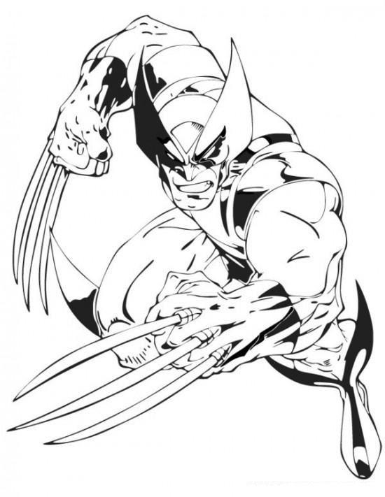 Free Printable Superhero X Man Wolverine Coloring Page For Kids Superhero Coloring Pages Superhero Coloring Marvel Coloring
